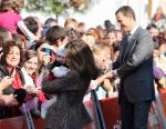 San Tirso de Abres se vuelca  con la visita de los Príncipes de Asturias