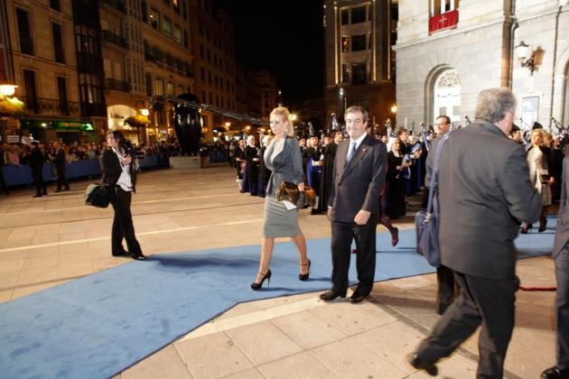 Salida de los premiados tras la ceremonia.