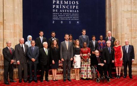 Los Príncipes reciben a los premiados en el hotel de la Reconquista