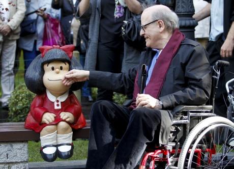 Quino descubre a Mafalda en Oviedo