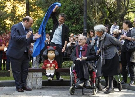 Mafalda ya vigila el estanque del Campo